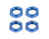 TITAN 17 mm Alu Thread Lock Nut (Blue) (4 pcs)
